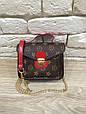 Сумка в стиле Louis Vuitton на цепочке Красный, фото 5