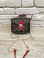 Сумка в стиле Louis Vuitton на цепочке Красный, фото 6