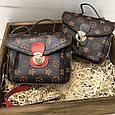 Сумка в стиле Louis Vuitton на цепочке Красный, фото 8