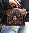 Сумка в стиле Louis Vuitton на цепочке Красный, фото 9