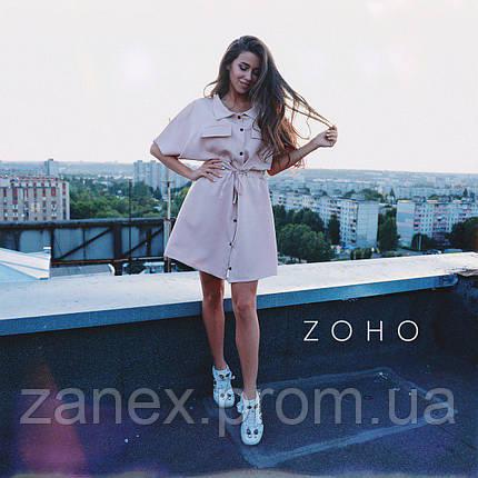 Платье Zanex, бежевое, фото 2
