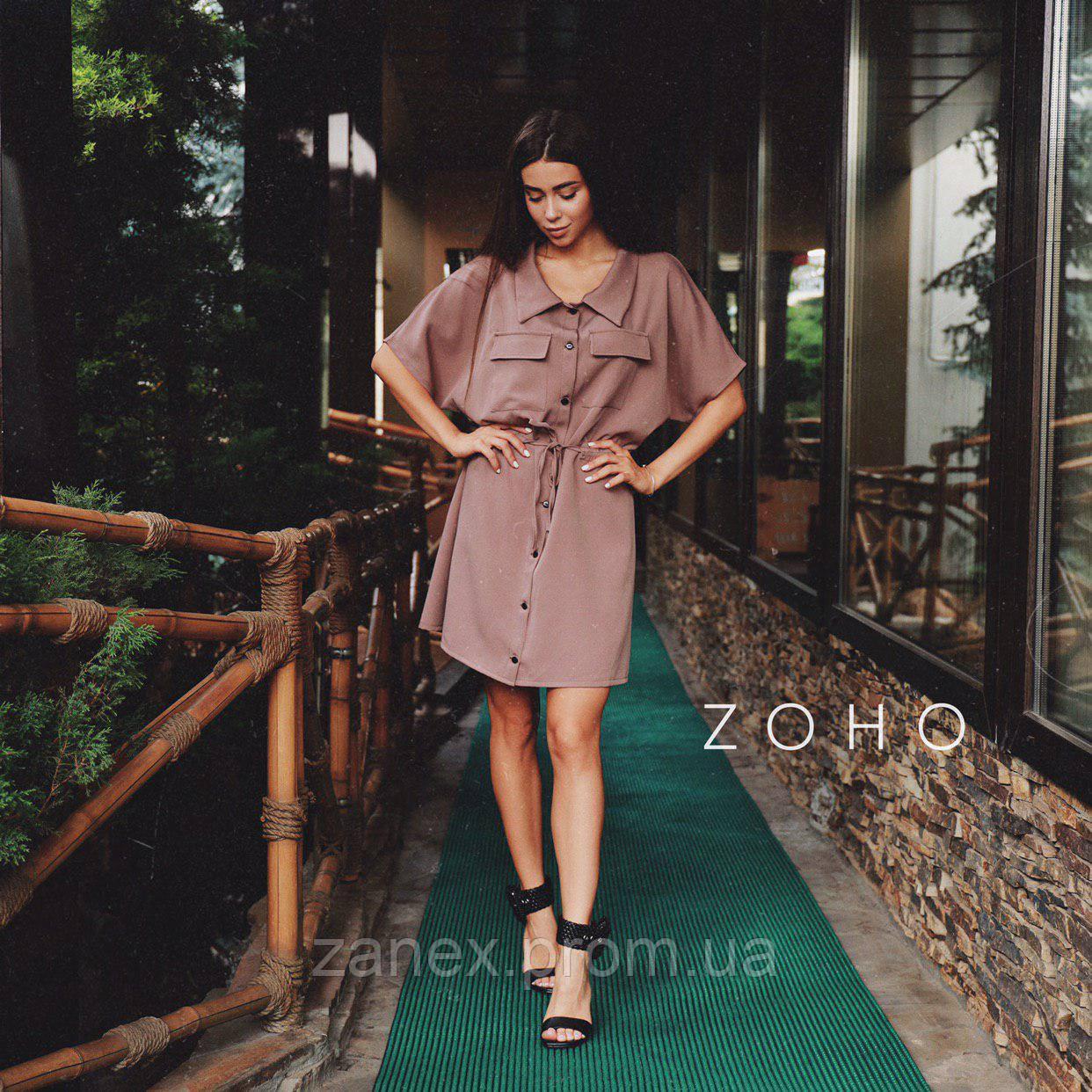 Платье Zanex, коричневое