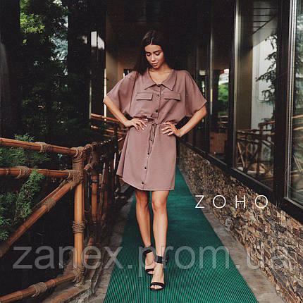 Платье Zanex, коричневое, фото 2