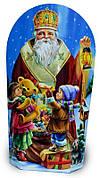Упаковка праздничная новогодняя из картона Святой Николай, до 300г, от 50 штук