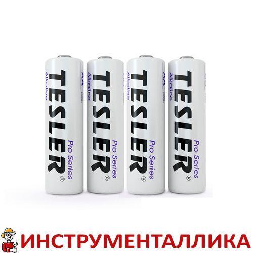 Батарейка Alkaline AA белая пальчик Tesler комплект 4 штуки цена за 1 штуку