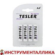 Батарейка Alkaline AA белая пальчик Tesler комплект 4 штуки цена за 1 штуку, фото 2