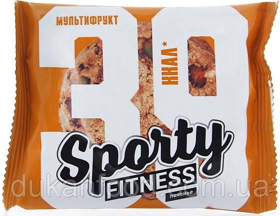 Низкокалорийное фитнес печенье Sporty Fitness, МУЛЬТИФРУКТ, 60 г