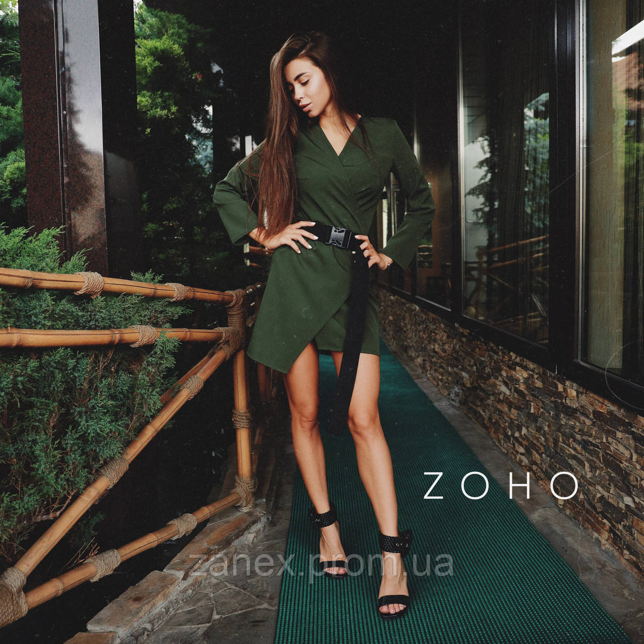 Платье Zanex «Кико», хаки