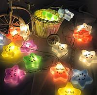 Детский светильник - ГирляндаStargirl10ламп 1.5 метраUSB Разноцветный