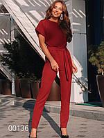 Модный комбинезон женский на все случаи из креп-костюмки