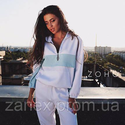 Идеальный осенний костюм Zanex, белый/голубой, фото 2