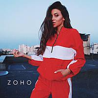 Идеальный осенний костюм Zanex, красный
