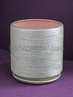 Керамический горшок Цилиндр (Изумруд) d-10 см, 0,6 л