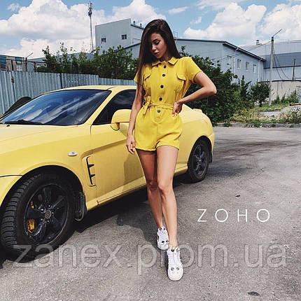 Комбинезон на пуговицах Zanex, желтый, фото 2
