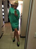 Платье-туника спорт с капюшоном