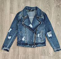 Женская джинсовая куртка размеры L, 2XL. Артикул: GD2783