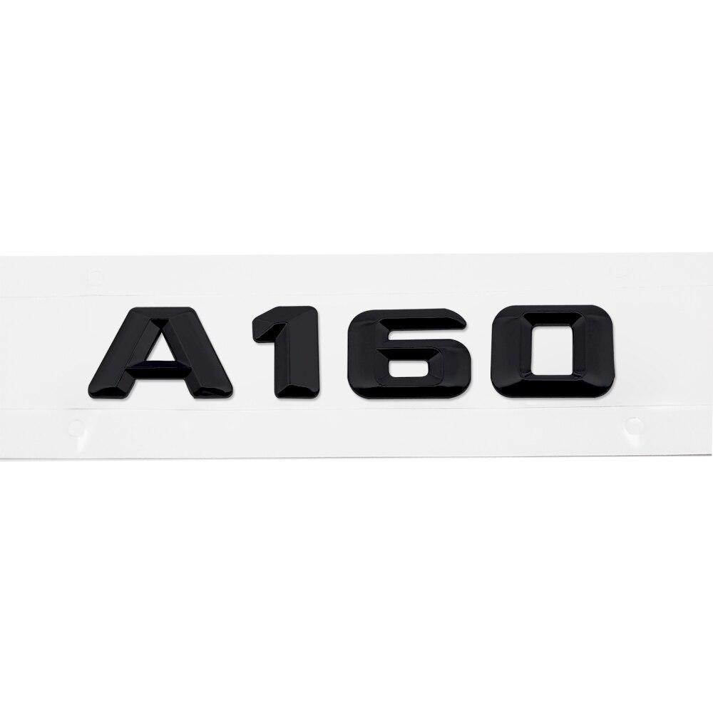 Матовая Эмблема Шильдик надпись A160 Мерседес Mercedes