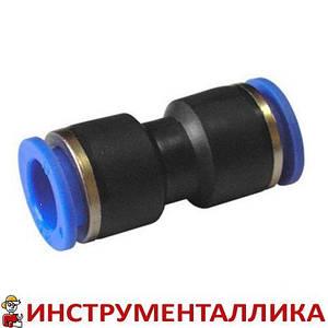 Соединитель прямой для пластиковых трубок 10 мм SPU10 Airkraft