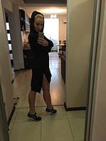 Платье-туника спорт черная