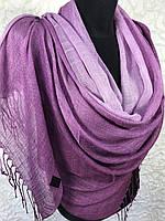 Женский льняной шарф на голову (цв.9)