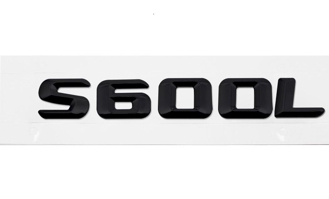 Матовая Эмблема Шильдик надпись S600L Мерседес Mercedes