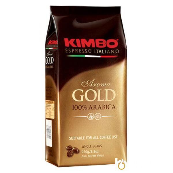 Кофе в зёрнах KIMBO AROMA GOLD 100% ARABICA 250 г