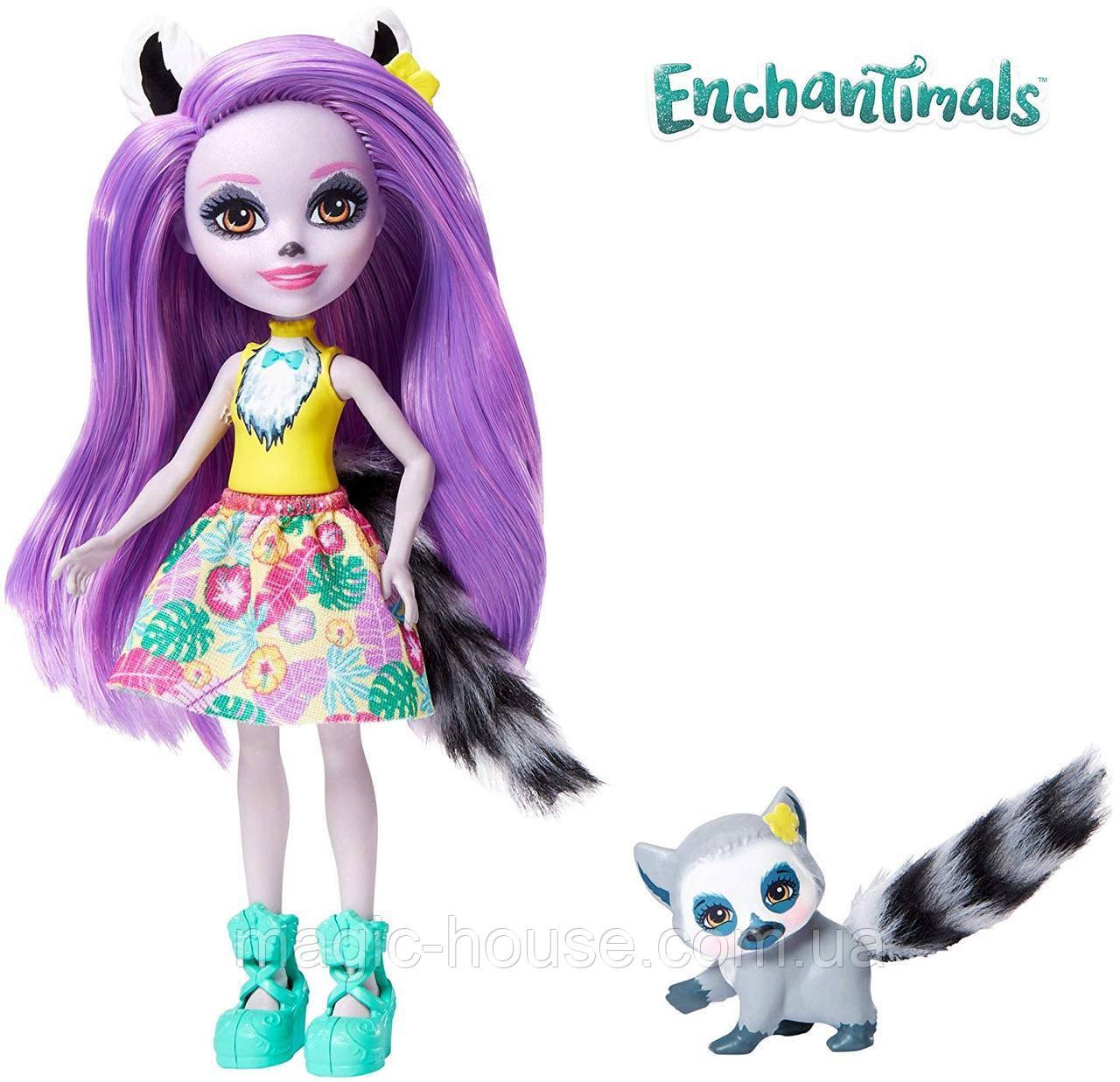 Лялька Энчантималси Лариса Лемур і один Ринглет Mattel Enchantimals Larissa Lemur & Ringlet