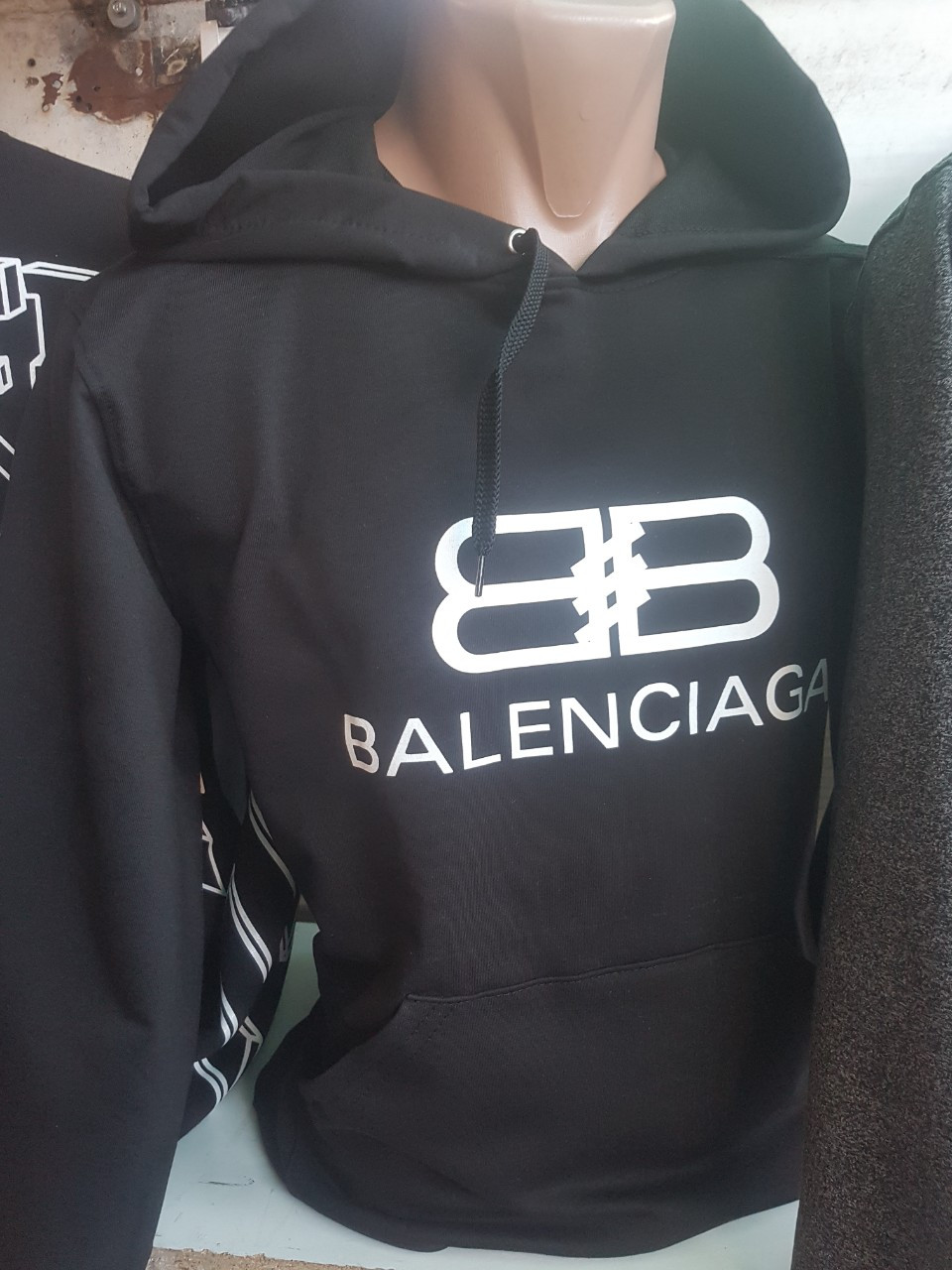Худи толстовка кофта мужская Balenciaga флис