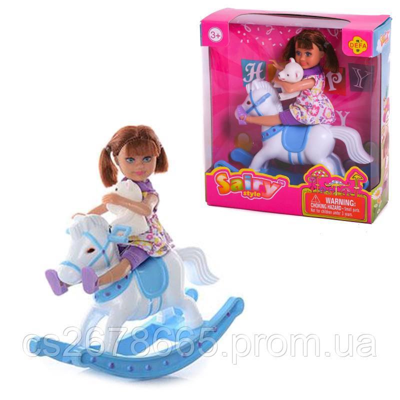 Кукла DEFA лошадка-качалка