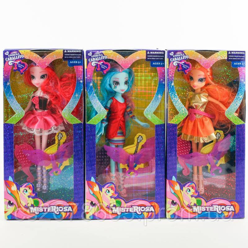 Кукла D241 (48шт) LP, 24см, крылья, расческа, микс TBD241