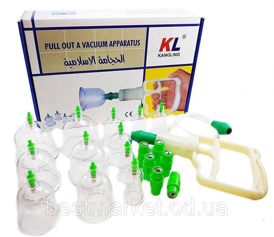 Антицеллюлитные Вакуумные Банки Kangling Pul Out A Vacuum Apparatus 12 шт