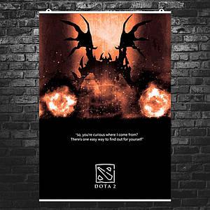 "Постер ""Дота 2: Shadow Fiend"". Невермор, СФ, Dota 2. Размер 60x42см (A2). Глянцевая бумага"
