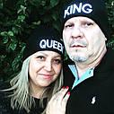 Шапка молодёжная King белая, фото 4