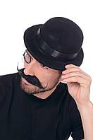 Шляпа Котелок  черный