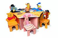 Большие детские наборы Стол+6 стульев Любимые герои №1 Даруся