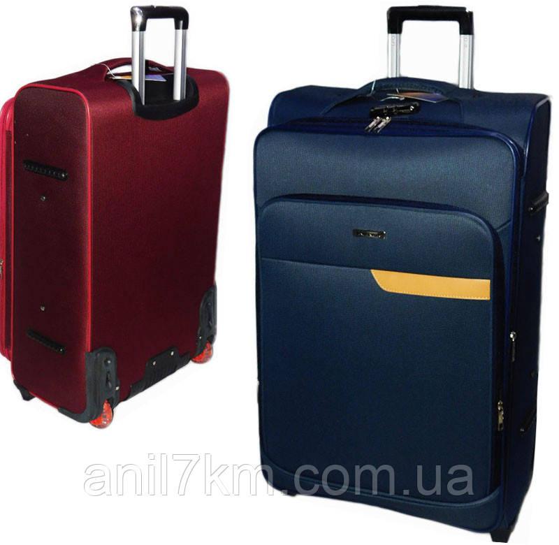 Большой  чемодан на силиконовых колёсах Travel World