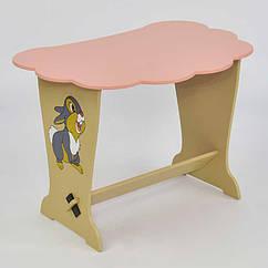 Детский стол-парта Мася Зайчик 6131 Розовый 2-6131-67057, КОД: 124505