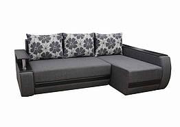Угловой диван Garnitur.plus Графф темно-серый 245 см DP-11, КОД: 181457
