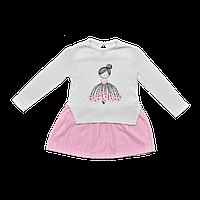 Платье Dexters Девочка 98 см Бело-розовый d97812, КОД: 1058957