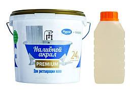 Наливной жидкий акрил Plastall Premium для реставрации ванны 1.5 м 3 л NalacrPlprem150, КОД: 951349