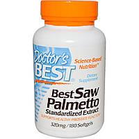 Экстракт Со Пальметто, Doctor's Best, 320 мг,180 капсул