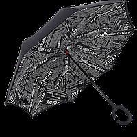 Зонт обратного сложения Up-Brella Journal Black 19000, КОД: 185133