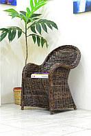 Плетеное кресло Cruzo Сейшелла из натурального ротанга Коричневое kr0004-11025498, КОД: 741546