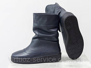 Ботинки женские Gino Figini М-211-03 из натуральной кожи 37 Синий
