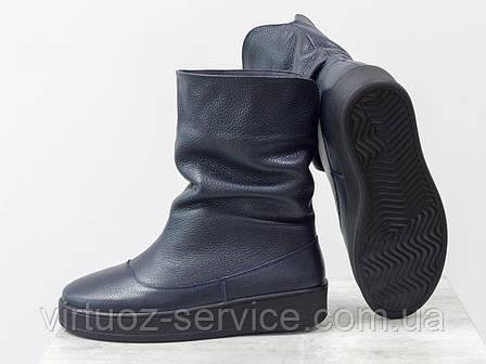 Ботинки женские Gino Figini М-211-03 из натуральной кожи флотар, фото 2