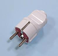 Вилка електрическая 16А, прямая с заземлением Lezard