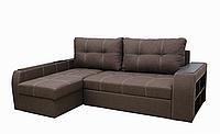 Угловой диван Garnitur.plus Барон коричневый 250 см DP-160, КОД: 181477