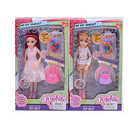 Кукла мода и стиль (шарнирная) 27см, сумочка, браслет,2 шт, 2 вида.