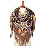 Девица-краса 1869-16, павлопосадский платок шерстяной с шелковой бахромой, фото 2