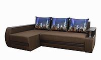 Угловой диван Garnitur.plus Граф темно-коричневый 245 см DP-229, КОД: 181426